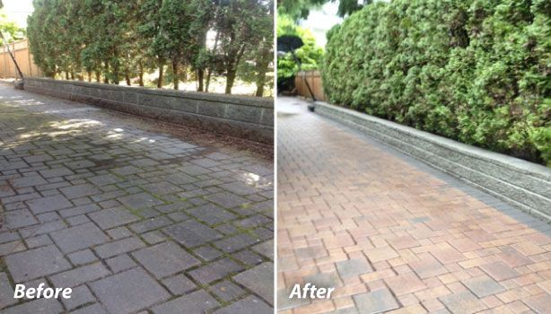 Walkway that had power washing in West Vancouver